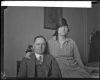 J. Carl Pendray, mayor of Victoria, British Columbia, and his wife Florence during a visit to Los Angeles, 1928