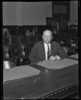 District Attorney Asa Keyes charged with bribery and misconduct in office, Los Angeles, 1928