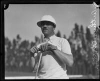 Arthur Perkins, Polo player for the Midwick Country Club, Alhambra, 1920s or 1930s