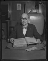 Former Los Angeles City Councilman George D. Pessell, Los Angeles, 1920-1939