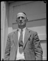 A. H. Peterson, secretary of the San Pedro branch of the International Longshoremen Association, San Pedro, 1934