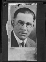 Portrait of a man related to the  the investigation of the murder of Alberta Meadows by Clara Phillips, 1922