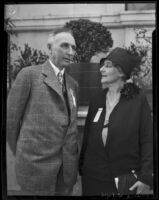 Dr. Percy Phillips and Dr. Emma W. Pope at a California Medical Association convention, Los Angeles, 1927