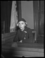ZaSu Pitts in court to divorce Tom Gallery, Los Angeles, 1932