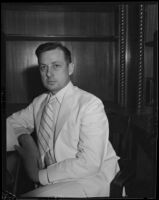 Federal Transient Service National Director William Plunkert attending a conference, Los Angeles, 1934