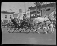 Mayor John C. Porter at La Fiesta de Los Angeles parade, Los Angeles, 1931