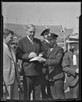 Mayor John C. Porter at President's Day ceremony, Los Angeles, 1933