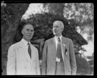 Dr. John L. Rice and Dr. Hugh S. Cumming, circa 1933-1936