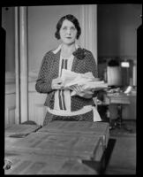 Rosamond Rice, Clerk of the Marriage License Division, Los Angeles, 1928