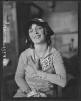 Yvonne Riddle, artist's model and actress, Los Angeles, 1927