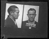 Mugshot of James Rogan, Los Angeles, 1932