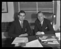 Thornwell Rogers and Dist. Atty. Buron Fitts, Los Angeles, ca. 1930s