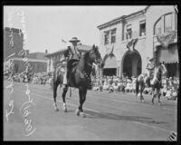 James Rolph riding a horse at the Santa Maria Fair, Santa Barbara, 1930