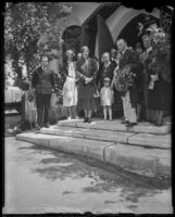 Grand Duchess Marie of Russia attends Russian Orthodox Church services, Silver Lake (Los Angeles), 1932