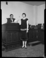 Lillian Butterfield with Judge Russill, Los Angeles, 1931