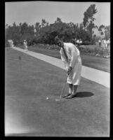 Golfer Danny Sangster, Southern California, 1928
