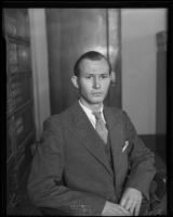 Robert L. Sapp on trial for theft, Los Angeles, 1935