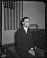 John R. Scantlin, indicted former vice-president of First National Bank of Beverly Hills, Los Angles, 1933
