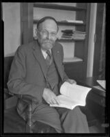 F. C. S. Schiller, professor of philosophy at the University of Southern California, Los Angeles, 1935