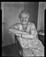 Opera singer madam Ernestine Schumann-Heink, Los Angeles, between 1930-1936