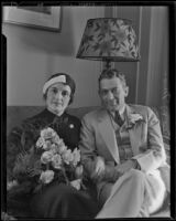 Mr. Henry L. Stevens, Jr. accompanied by his wife, Mildred Beasley Stevens, Los Angeles, 1932