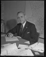 Arlin E. Stockburger assumes duties of Director of Finance, Los Angeles, 1934