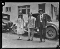Roberta Semple, Rolf McPherson, and H.D. Hollenbeck, Los Angeles, 1926