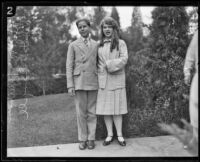Rolf McPherson and Roberta Semple, Los Angeles, 1926