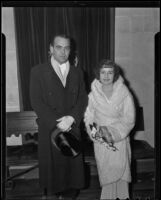 Anna E. La Chapelle and Dr. George Henry at a formal dress event, 1935