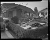 Aftermath of the explosion at the home of Everett Bassett, Los Angeles, 1935