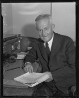 Richard Jervis on the day he took charge of the Los Angeles office of the United States secret service, 1935