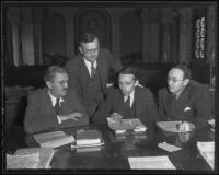 William H. Neal, Lewis E. Arnold, Walter C. Peterson, and Dan O. Hoye, city employees, Los Angeles, 1935