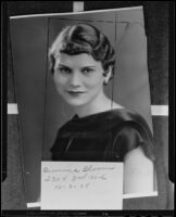 Burnice Bloom, president of Sigma Alpha Iota national music sorority, Los Angeles, 1935