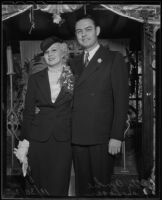 Betty André and Ray Logan on their wedding day, 1935