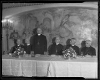 Prelates assembled at reception for Rev. James DeWolf Perry, presiding bishop of the Episcopal Church in the United States, at the Ambassador Hotel, Los Angeles, 1935