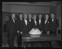 Attendees at the anniversary dinner of the Los Angeles Stock Exchange, Los Angeles, 1935
