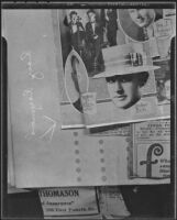 "Page from a scrapbook of radio announcer Leslie Ray Raymond, known as ""Brother Bob,"" 1935"