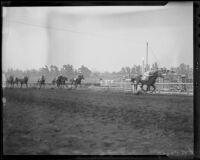 """Time Supply"" winning the San Antonio Handicap at Santa Anita Park, Arcadia, 1936"