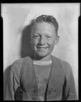 Tommy England, participant in a freckles contest at the Salvation Army Fall Festival, 1935