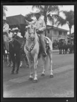 Buck Rogers on horseback in the Old Spanish Days Fiesta parade, Santa Barbara, 1935