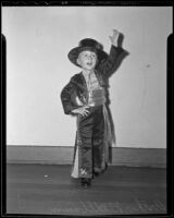 Three-year-old Arthur Wellbaum poses in his Spanish dance costume, Los Angeles, 1935