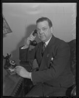 Photograph of Robert L. McCourt, new President of the Chamber of Commerce, Los Angeles, 1936