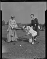 Mmes. P. S. Noon, H. P. George and J. L. Martin in hi-jinks attire at the Brentwood Country Club, Los Angeles, 1935