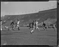 Football game between the USC Trojans and the UCLA Bruins at the Coliseum, Los Angeles, 1932