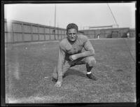 Bruins football player Verdi Boyer at Spaulding Field at U.C.L.A., Los Angeles, 1932