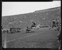 Football game between the UCLA Bruins and St. Mary's Gaels at the Coliseum, Los Angeles, 1932