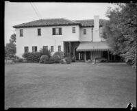 Home of William F. Gettle, kidnapping victim, Beverly Hills, 1934