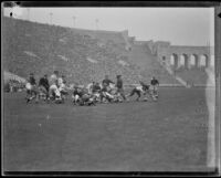 Football game between the USC Trojans and Stanford Indians at the Coliseum, Los Angeles, 1934