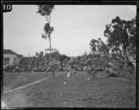 Football game with USC Trojans, Los Angeles, 1920-1939
