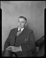 John Henry, owner of the Bellevue Arms apartments, where Marion Parker was held by William Edward Hickman, 1928